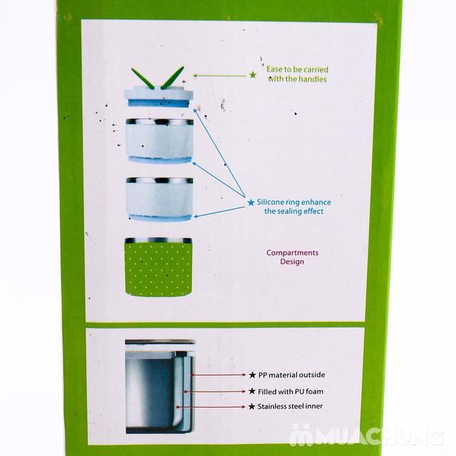 Hộp cơm giữ nhiệt 3 tầng lõi inox tiện dụng - 1