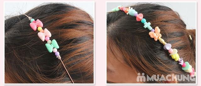 Bộ xâu hạt vòng, kẹp tóc hộp Hello Kitty cho bé - 19