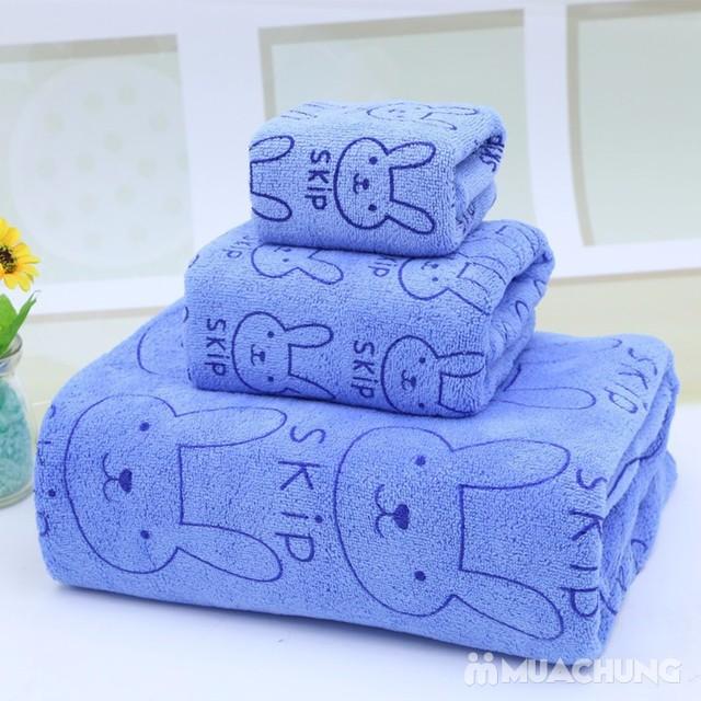 Set 3 khăn nhà tắm sợi cotton mềm mịn cho bé  - 2
