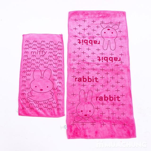 Set 3 khăn nhà tắm sợi cotton mềm mịn cho bé  - 15
