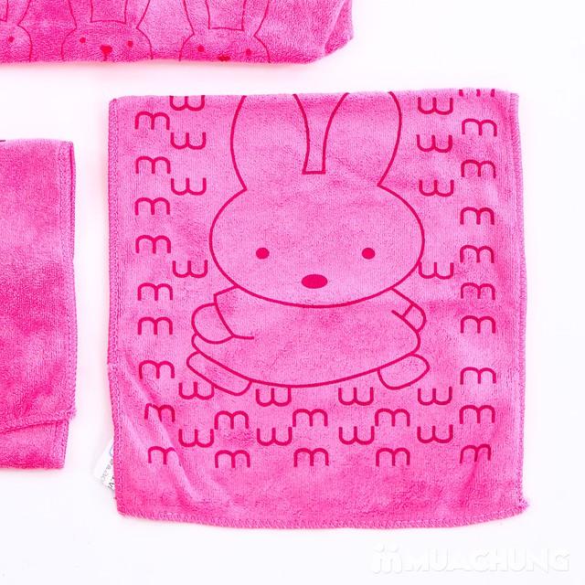 Set 3 khăn nhà tắm sợi cotton mềm mịn cho bé  - 10