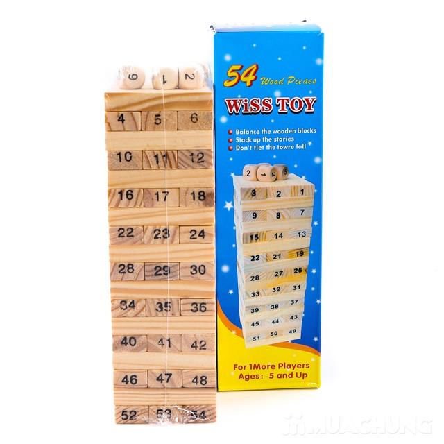 Bộ trò chơi rút gỗ 54 thanh- luyện khéo tay cho bé - 4