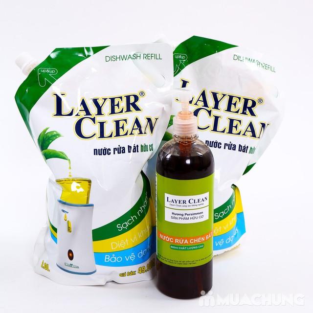 2 túi nước rửa bát hữu cơ 2L- Tặng 1 chai 800ml  - 2