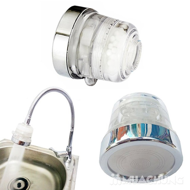 Đầu vòi rửa lọc nước tăng áp lực, 3 chế độ-Hàng VN - 2