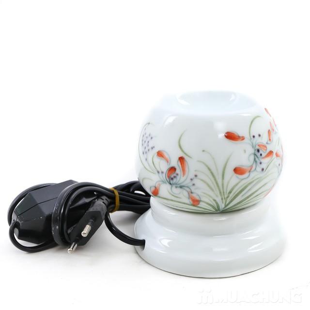 Đèn xong tinh dầu cắm điện loại nhỏ- sứ Bát Tràng  - 8