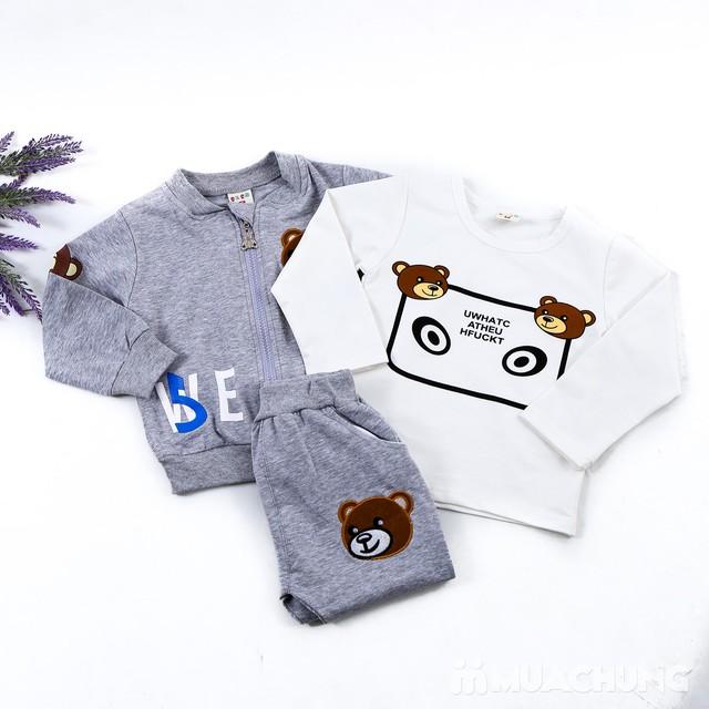 Bộ quần áo gấu 3 chi tiết ngộ nghĩnh cho bé  - 2