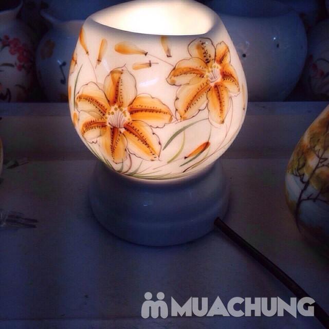 Đèn xông tinh dầu cắm điện- sứ Bát Tràng cao cấp - 9