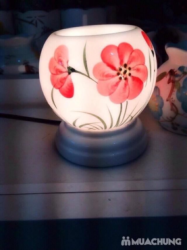 Đèn xông tinh dầu cắm điện- sứ Bát Tràng cao cấp - 6