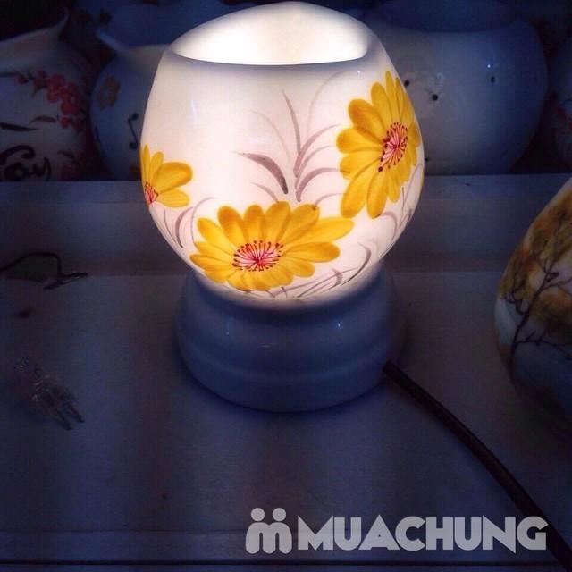 Đèn xông tinh dầu cắm điện- sứ Bát Tràng cao cấp - 2