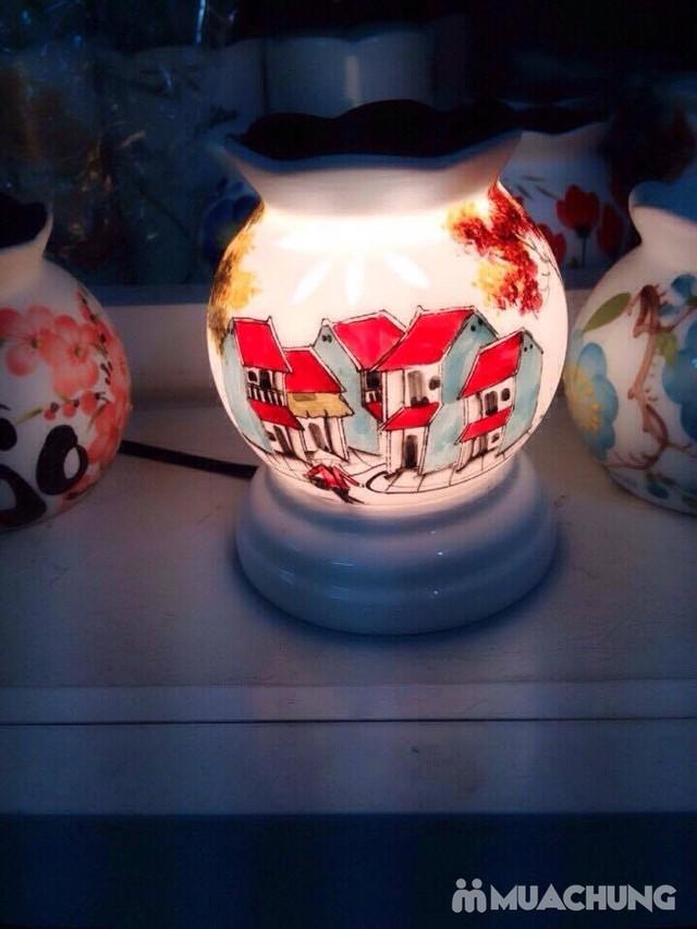 Đèn xông tinh dầu cắm điện- sứ Bát Tràng cao cấp - 7
