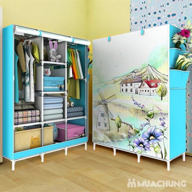 Tủ vải 3 buồng 8 ngăn 3D - 3