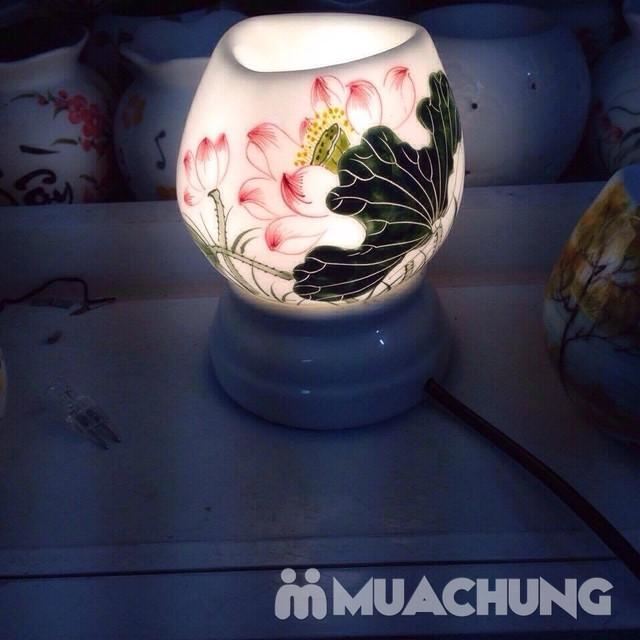 Đèn xông tinh dầu cắm điện- sứ Bát Tràng cao cấp - 3