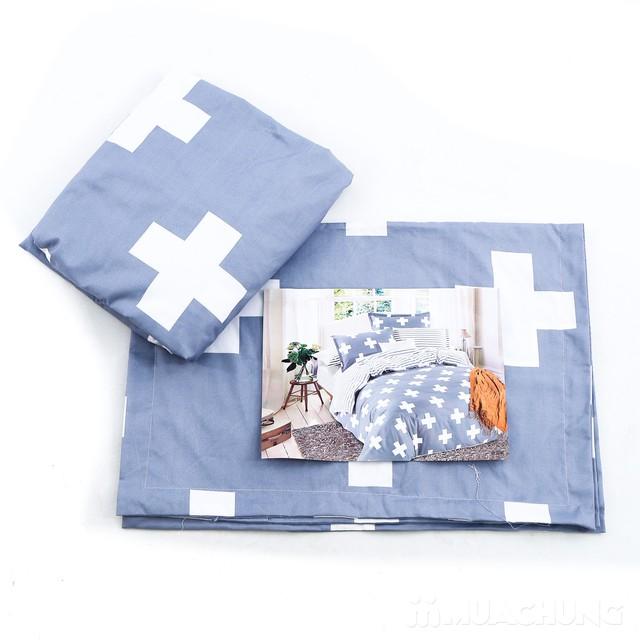 Bộ ga chun & 2 vỏ gối 1m6 x 2m cotton poly mềm mịn - 13