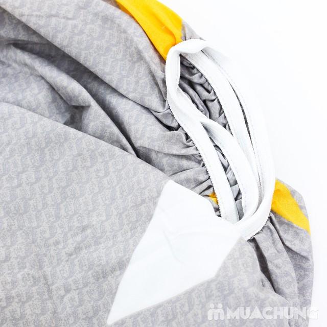 Bộ ga chun & gối cotton poly họa tiết 2.2x2m - 6