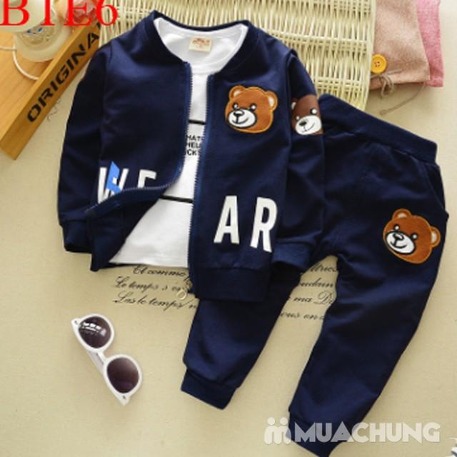 Bộ quần áo gấu 3 chi tiết ngộ nghĩnh cho bé - 1