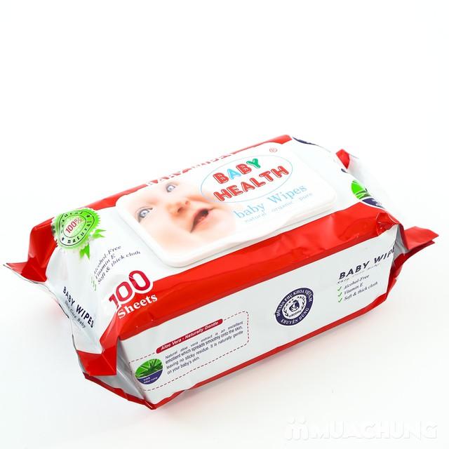 Combo 5 gói khăn ướt Baby Health loại 100 tờ - 4