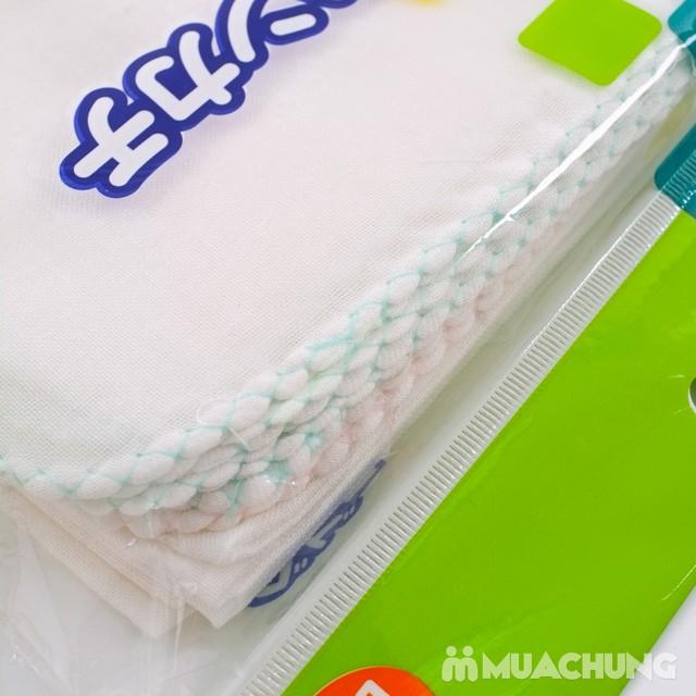 10 khăn mặt diệt khuẩn cotton 2 lớp NK Nhật Bản  - 1