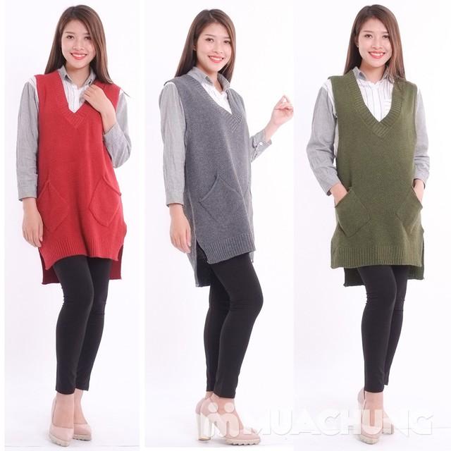 Áo len gilê dáng dài thời trang cho bạn gái - 8