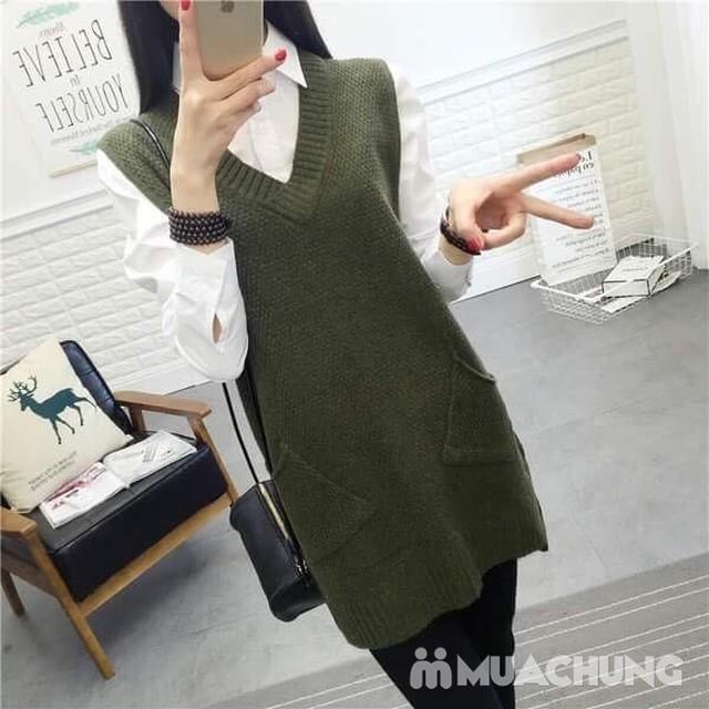 Áo len gilê dáng dài thời trang cho bạn gái - 1