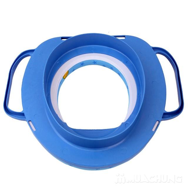 Bệ ngồi toilet có tay cầm và đệm ngồi cho bé - 7