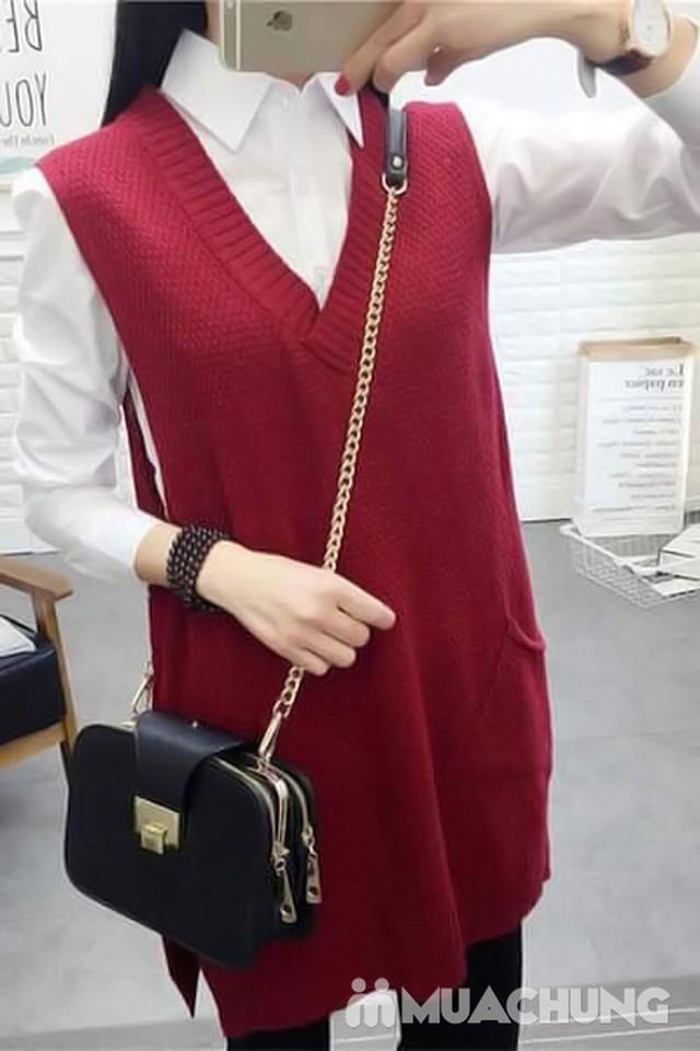 Áo len gilê dáng dài thời trang cho bạn gái - 6