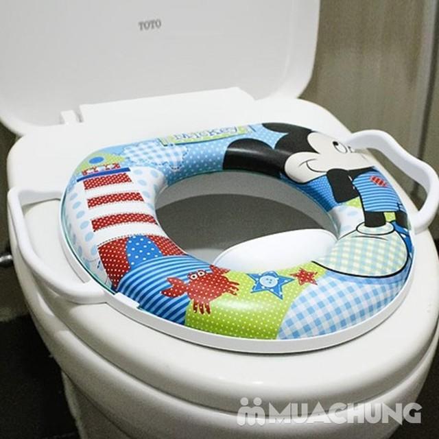 Bệ ngồi toilet hoạt hình cho bé có tay vịn và đệm ngồi - 7