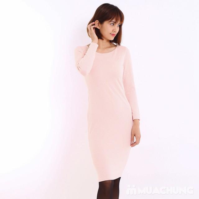 Váy công sở dài tay Thu - Đông chất thun xốp  - 6