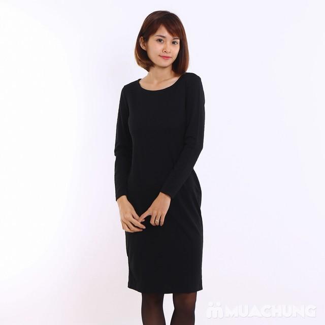Váy công sở dài tay Thu - Đông chất thun xốp  - 7