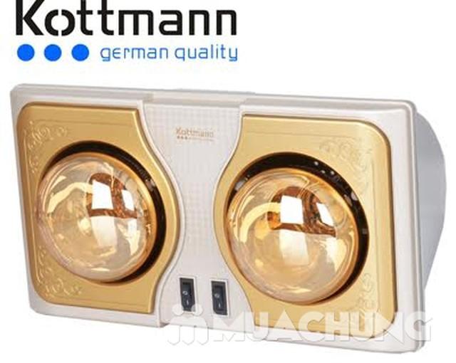Đèn sưởi nhà tắm Kottman 2 bóng vàng - 1