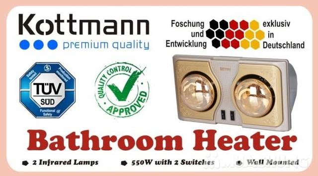 Đèn sưởi nhà tắm Kottman 2 bóng vàng - 2