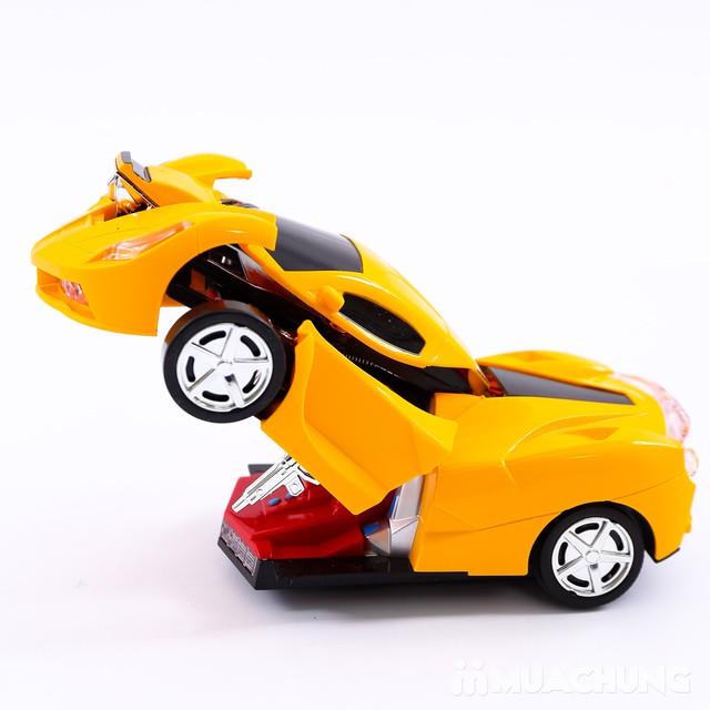 Ô tô biến hình robot - có thể di chuyển, phát sáng - 6