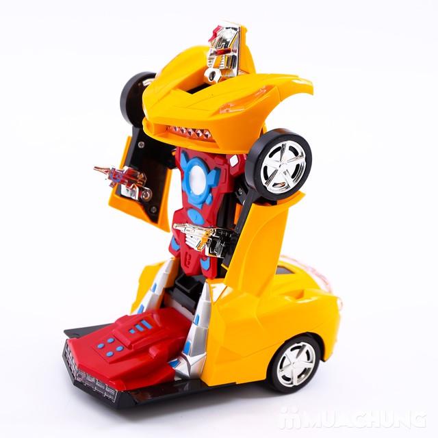 Ô tô biến hình robot - có thể di chuyển, phát sáng - 2