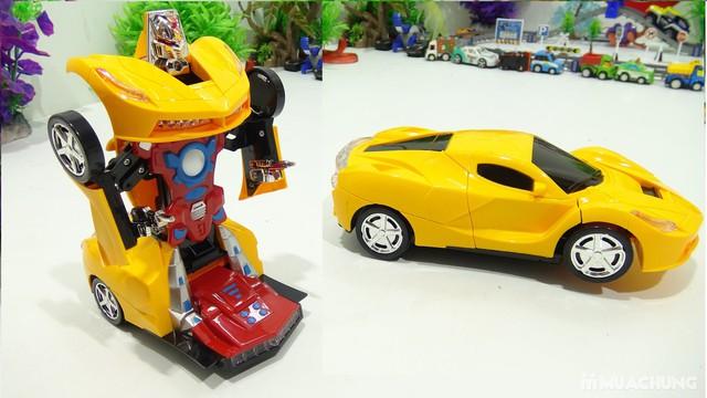 Ô tô biến hình robot - có thể di chuyển, phát sáng - 1