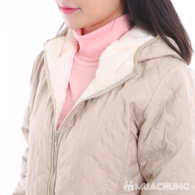 Áo phao lót lông chần trám nhiều màu trẻ trung - 2