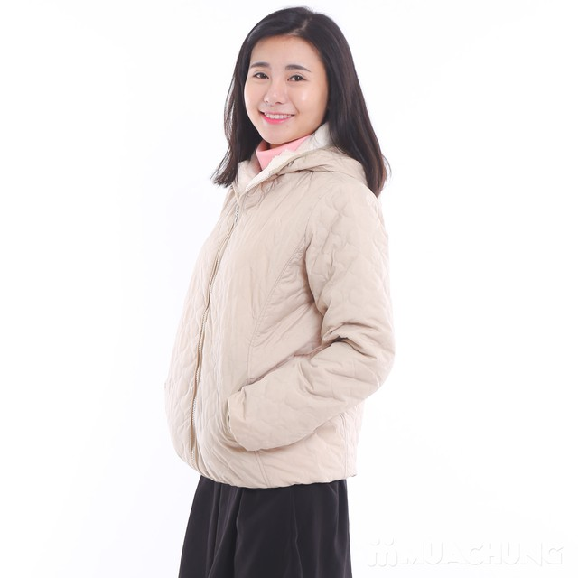 Áo phao lót lông chần trám nhiều màu trẻ trung - 1