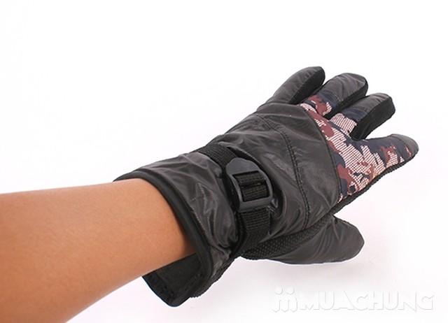 Găng tay phao lót lông nam ấm áp cho mùa đông - 3