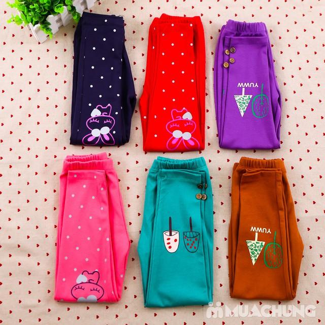 Combo 03 quần legging họa tiết, nhiều màu cho bé - 3