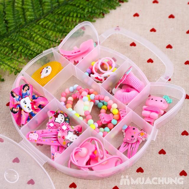 Hộp phụ kiện tóc Hello Kitty nhiều món cho bé - 6