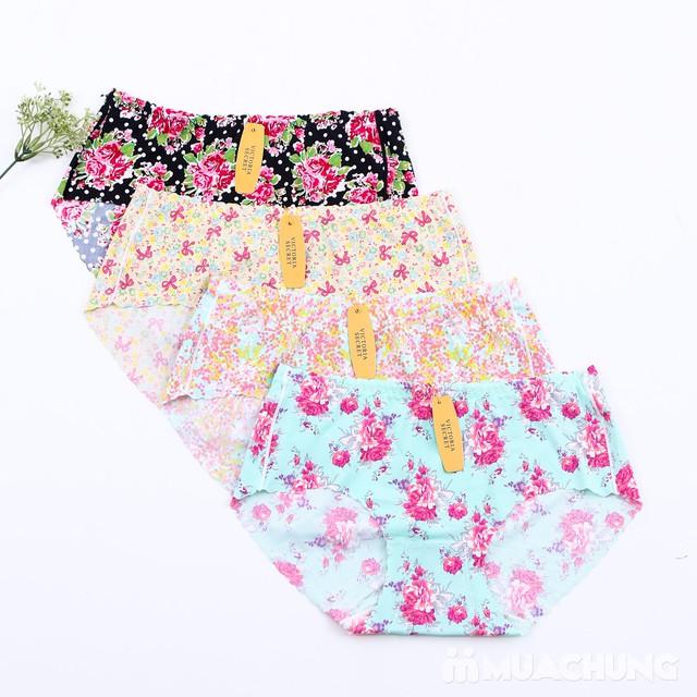 Combo 4 quần lót đúc xu họa tiết hoa - 3