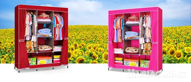 Tủ vải 3 buồng 8 ngăn dáng kéo rèm 1m3x0.45mx1m7 - 12