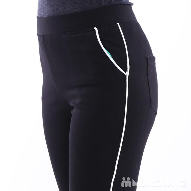 Quần legging sọc chất umi cho nữ - Mẫu mới 2017 - 2