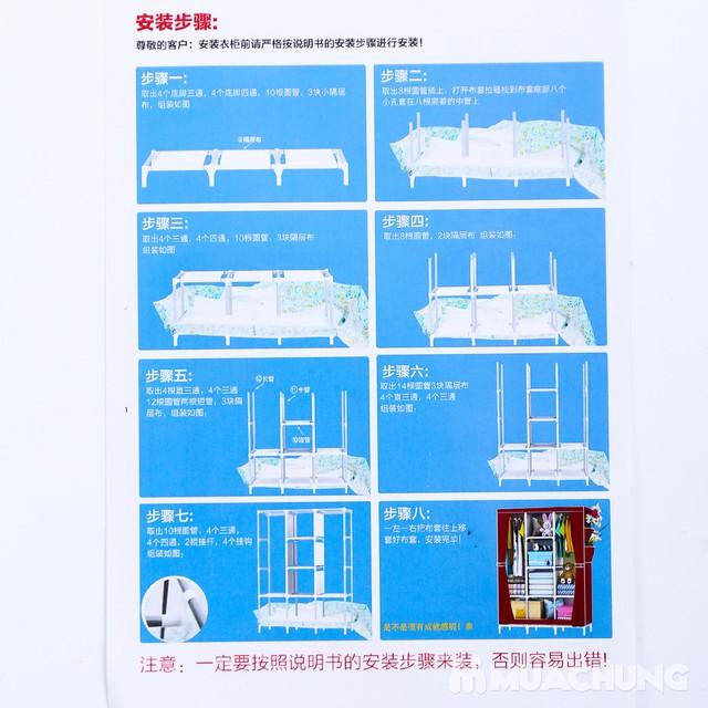 Tủ vải 3 buồng 8 ngăn dáng kéo rèm 1m3x0.45mx1m7 - 2