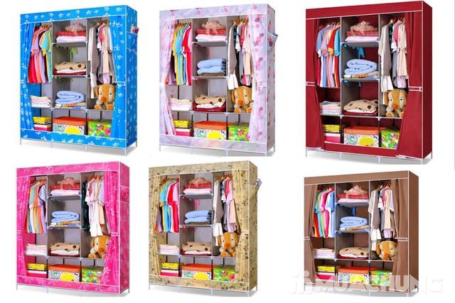 Tủ vải 3 buồng 8 ngăn dáng kéo rèm 1m3x0.45mx1m7 - 10
