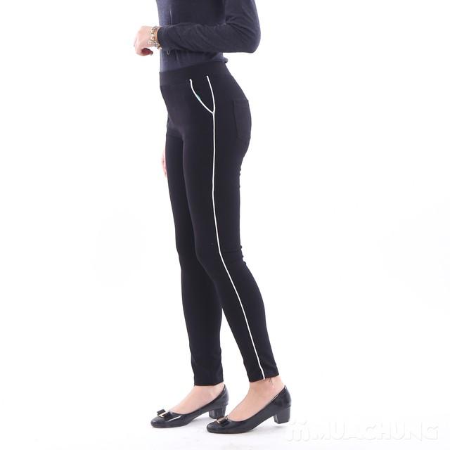 Quần legging sọc chất umi cho nữ - Mẫu mới 2017 - 5