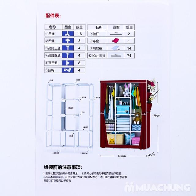 Tủ vải 3 buồng 8 ngăn dáng kéo rèm 1m3x0.45mx1m7 - 1