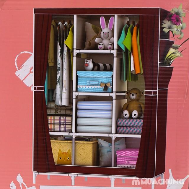 Tủ vải 3 buồng 8 ngăn dáng kéo rèm 1m3x0.45mx1m7 - 3