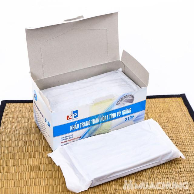 2 hộp khẩu trang than hoạt tính kháng khuẩn 3 lớp - 2