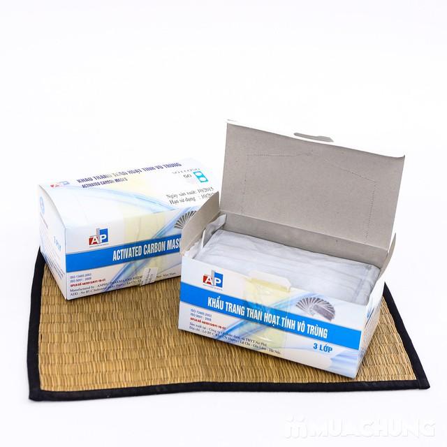 2 hộp khẩu trang than hoạt tính kháng khuẩn 3 lớp - 3