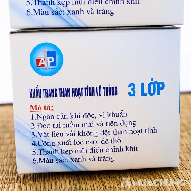 2 hộp khẩu trang than hoạt tính kháng khuẩn 3 lớp - 5