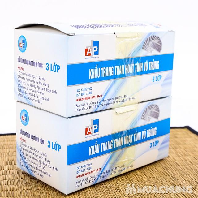 2 hộp khẩu trang than hoạt tính kháng khuẩn 3 lớp - 4